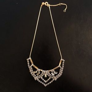 Madewell Necklace: Gold with Rhinestones